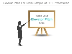 Elevator Pitch For Team Sample Of Ppt Presentation