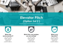 Elevator Pitch Marketing Ppt PowerPoint Presentation Model Template