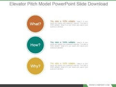 Elevator Pitch Model Powerpoint Slide Download