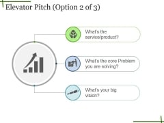 Elevator Pitch Ppt PowerPoint Presentation Infographics Example