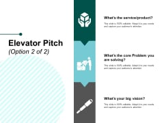 Elevator Pitch Ppt PowerPoint Presentation Portfolio Good