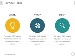 Elevator Pitch Ppt PowerPoint Presentation Rules