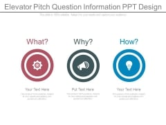 Elevator Pitch Question Information Ppt Design
