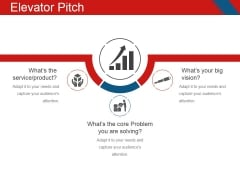 Elevator Pitch Template 1 Ppt PowerPoint Presentation Infographic Template Smartart