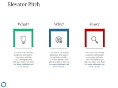 Elevator Pitch Template 1 Ppt PowerPoint Presentation Information