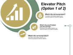 Elevator Pitch Template 1 Ppt PowerPoint Presentation Outline Graphics Example