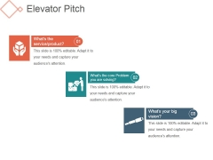 Elevator Pitch Template 1 Ppt PowerPoint Presentation Show Microsoft