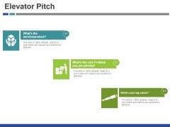 Elevator Pitch Template 1 Ppt PowerPoint Presentation Show Slide Portrait