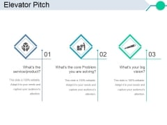 Elevator Pitch Template 1 Ppt PowerPoint Presentation Slides Clipart