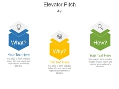 Elevator Pitch Template 1 Ppt PowerPoint Presentation Templates
