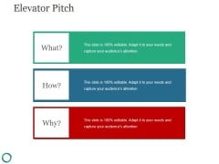 Elevator Pitch Template 2 Ppt PowerPoint Presentation Design Ideas