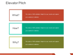 elevator pitch template 2 ppt powerpoint presentation infographics summary