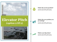 Elevator Pitch Template 2 Ppt PowerPoint Presentation Inspiration Example Topics