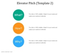 Elevator Pitch Template 2 Ppt PowerPoint Presentation Model Grid