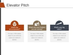 Elevator Pitch Template 2 Ppt PowerPoint Presentation Styles Designs Download