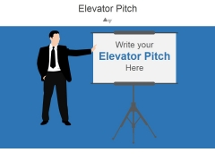 Elevator Pitch Template 3 Ppt PowerPoint Presentation Slide