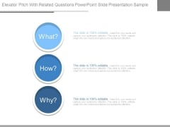Elevator Pitch With Related Questions Powerpoint Slide Presentation Sample