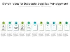 Eleven Ideas For Successful Logistics Management Ppt PowerPoint Presentation Summary Inspiration PDF