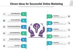 Eleven Ideas For Successful Online Marketing Ppt PowerPoint Presentation Outline Slides PDF