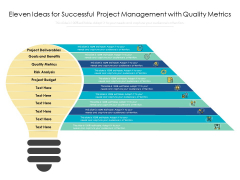 Eleven Ideas For Successful Project Management With Quality Metrics Ppt PowerPoint Presentation Portfolio Graphics PDF