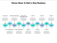 Eleven Ideas To Start A New Business Ppt PowerPoint Presentation Styles Outline PDF