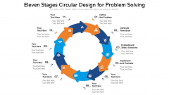 Eleven Stages Circular Design For Problem Solving Ppt PowerPoint Presentation Gallery Example Topics PDF