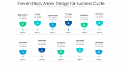 Eleven Steps Arrow Design For Business Cycle Ppt PowerPoint Presentation Gallery Samples PDF