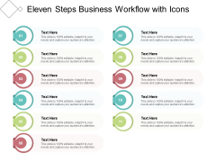 Eleven Steps Business Workflow With Icons Ppt PowerPoint Presentation Infographics Graphics Download