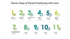 Eleven Steps Of Market Positioning With Icons Ppt PowerPoint Presentation Gallery Picture PDF