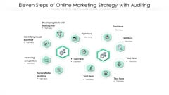 Eleven Steps Of Online Marketing Strategy With Auditing Ppt PowerPoint Presentation File Background PDF