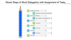 Eleven Steps Of Work Delegation With Assignment Of Tasks Ppt PowerPoint Presentation Gallery Structure PDF