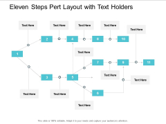 Eleven Steps Pert Layout With Text Holders Ppt Powerpoint Presentation Ideas Background Image