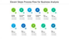 Eleven Steps Process Flow For Business Analysis Ppt PowerPoint Presentation Gallery Visuals PDF