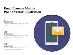 Email Icon On Mobile Phone Vector Illustration Ppt PowerPoint Presentation Gallery Slides PDF