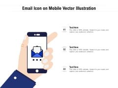 Email Icon On Mobile Vector Illustration Ppt Model Graphic Tips PDF