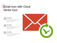 Email Icon With Clock Vector Icon Ppt PowerPoint Presentation Model Outline PDF