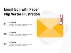 Email Icon With Paper Clip Vector Illustration Ppt PowerPoint Presentation Ideas Smartart PDF