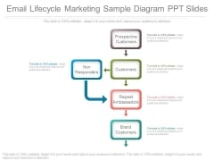 Email Lifecycle Marketing Sample Diagram Ppt Slides
