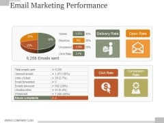Email Marketing Performance Ppt PowerPoint Presentation Designs Download