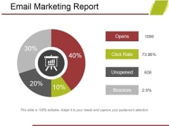 Email Marketing Report Ppt PowerPoint Presentation Styles Design Ideas