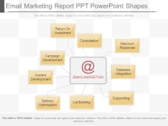 Email Marketing Report Ppt Powerpoint Shapes