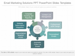 Email Marketing Solutions Ppt Powerpoint Slides Templates