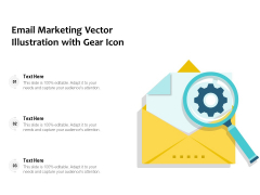 Email Marketing Vector Illustration With Gear Icon Ppt PowerPoint Presentation Model Graphics Design PDF