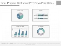 Email Program Dashboard Ppt Powerpoint Slides