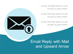Email Reply With Mail And Upward Arrow Ppt PowerPoint Presentation File Graphic Images PDF