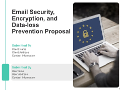 Email Security Encryption And Data Loss Prevention Proposal Ppt PowerPoint Presentation Complete Deck With Slides