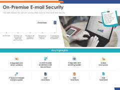 Email Security Market Research Report On Premise E Mail Security Mockup PDF