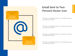 Email Sent To Two Persons Vector Icon Ppt PowerPoint Presentation Visual Aids Portfolio PDF