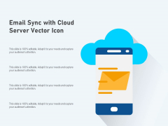 Email Sync With Cloud Server Vector Icon Ppt PowerPoint Presentation Professional Outfit PDF