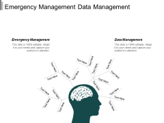 Emergency Management Data Management Management Facility Planning Ppt PowerPoint Presentation Infographics Graphics Tutorials